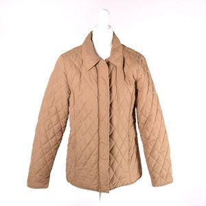 White Stag quilted tan coat size M 8-10